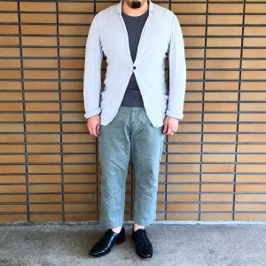 9 Shiny Black Leather Shoes & Grey Pants