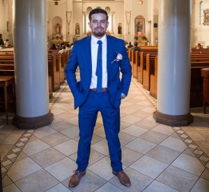 9 Standard Blue Suit & Brown Leather Shoes