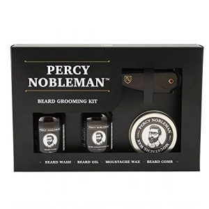 Beard Grooming Kit by Percy Nobleman A Beard Oil, Wash, Wax & Comb Gift Set For Men by Percy Nobleman