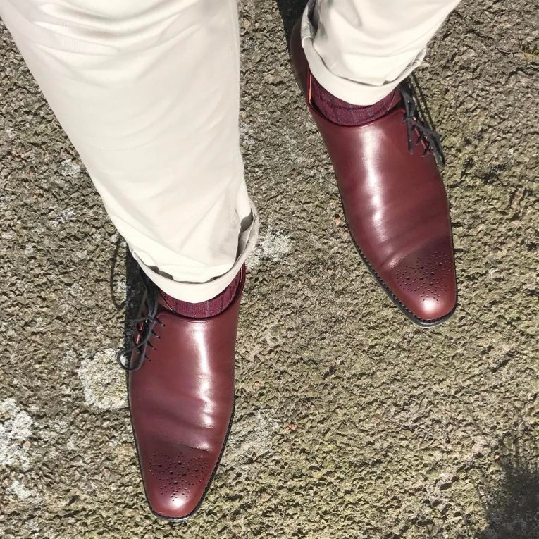 Burgundy Shoes 1