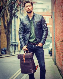 Leather Backpack 28