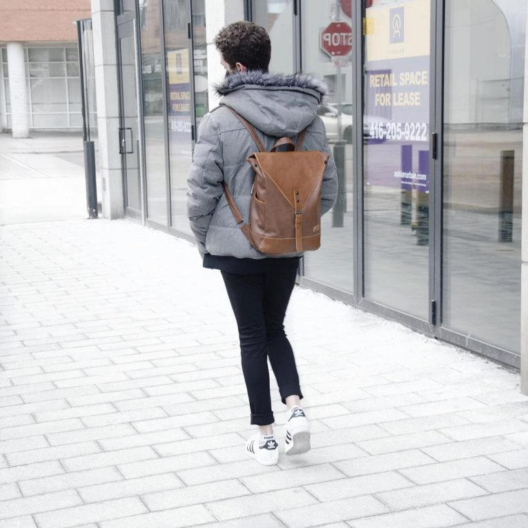 Leather Backpack 32