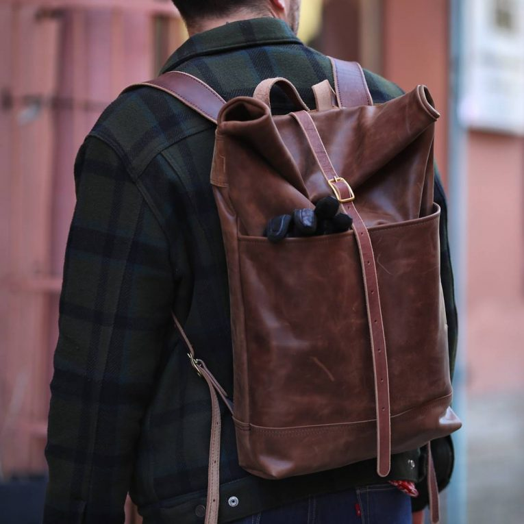 Leather Backpack 33