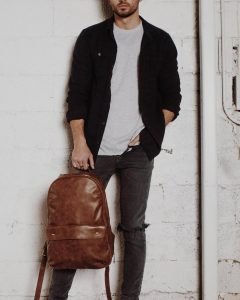 Leather Backpack 36