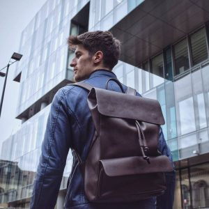 Leather Backpack 38
