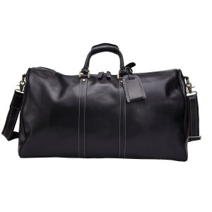 Men's Genuine Leather Weekend Overnight Travel Duffel Bag Boarding Bag