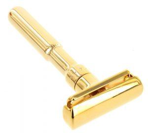 Merkur Adjustable Futur Safety Razor Gold Plated 702