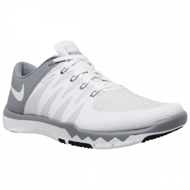 Nike Men's Free Trainer 5.0 V6 WhiteWhiteDove GreyPr Pltnm Training Shoe1