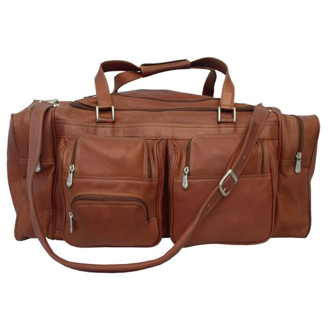 Piel Leather 24-Inch Duffel Bag with Pockets