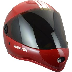 Predator DH6 Matte Red White Stripes Skateboard Helmet
