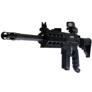US Army Project Salvo Paintball Marker Gun 3Skull 20 Sniper Red Dot Sling Set