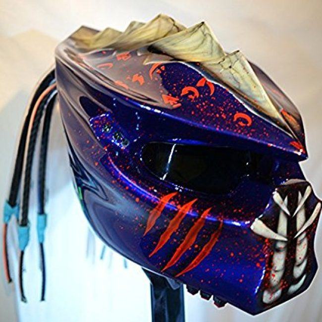 kustomzairbrushing Double Blue Predator Helmet