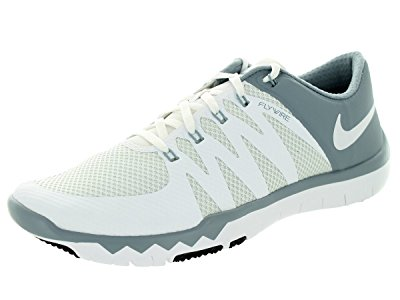 Nike Men's Free Trainer 5.0 V6 White/White/Dove Grey/Pr Pltnm Training Shoe 8...