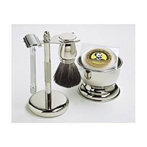 Shaving Gift Set with Merkur Safety Razor, Bowl, Shaving Soap, Badger Brush,...