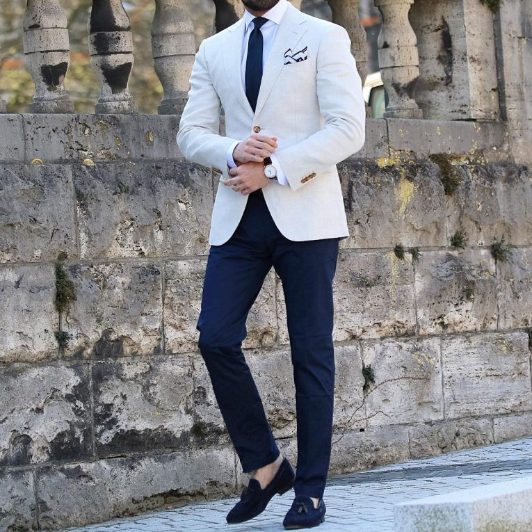 Cream Shoes With Black Pants