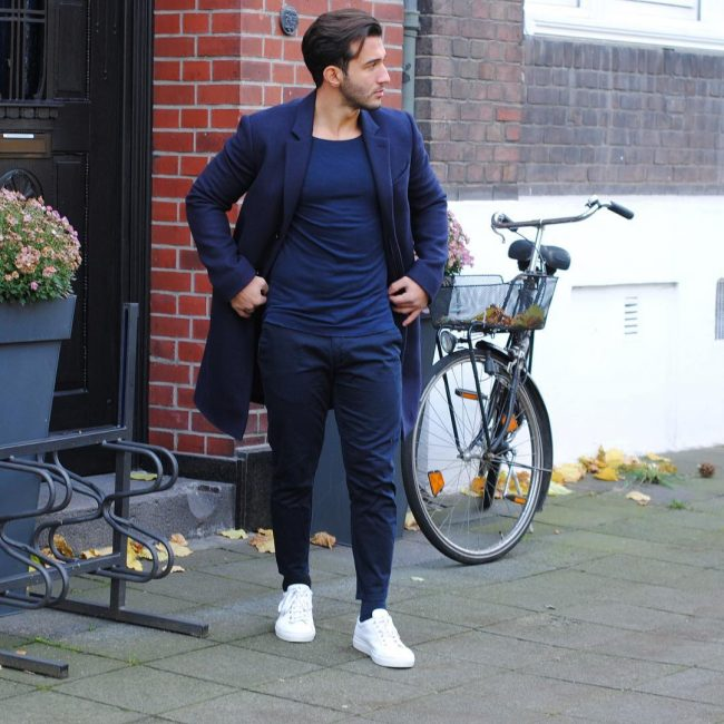 1 All Blue Simple Casual Outfit Combination