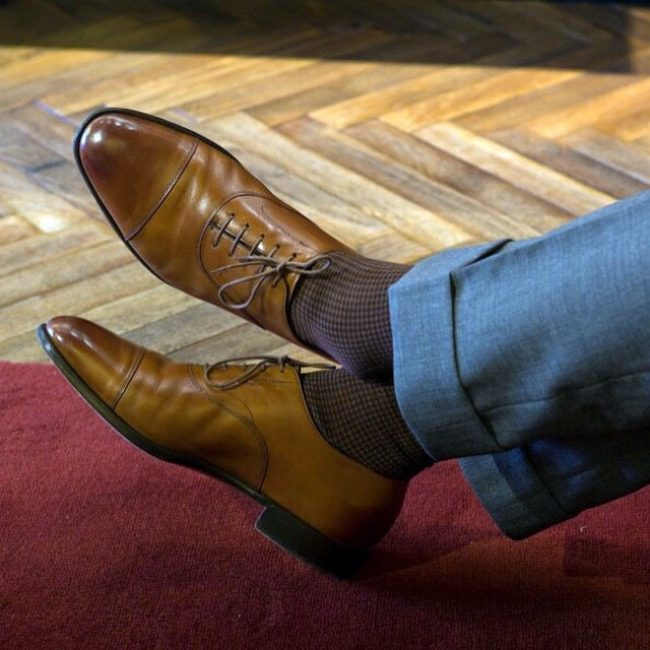 1 Chestnut Socks with Brown Shoes
