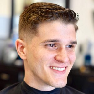 1 Faded Short Textured Pomp