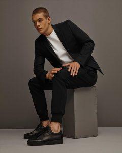1 Formal Black Slim-Fit Coat