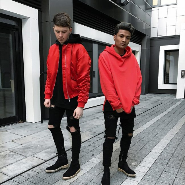 1 The Red Baggy Hoodie