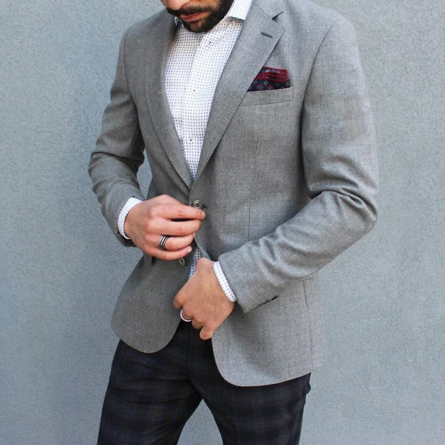 10 A Blazer & Patterned Pants