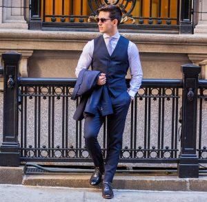 10 Berry Blue Suit Vest