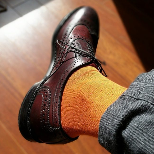 10 Bold Orange Socks