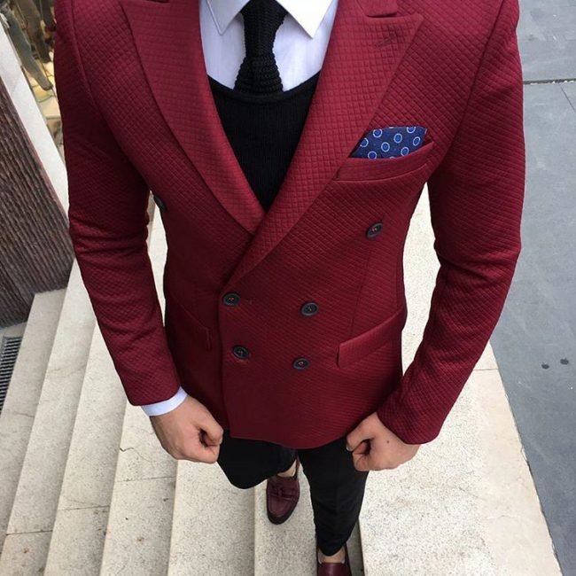10 Bold Red Double Breasted Blazer