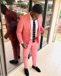 10 Light Coral Pink Modern Fit Suit