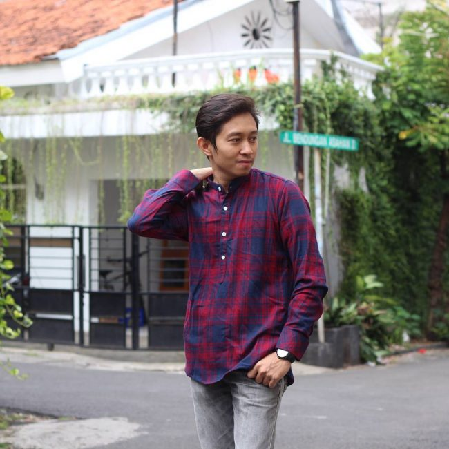 11 Casual Flannel with Gray Pants