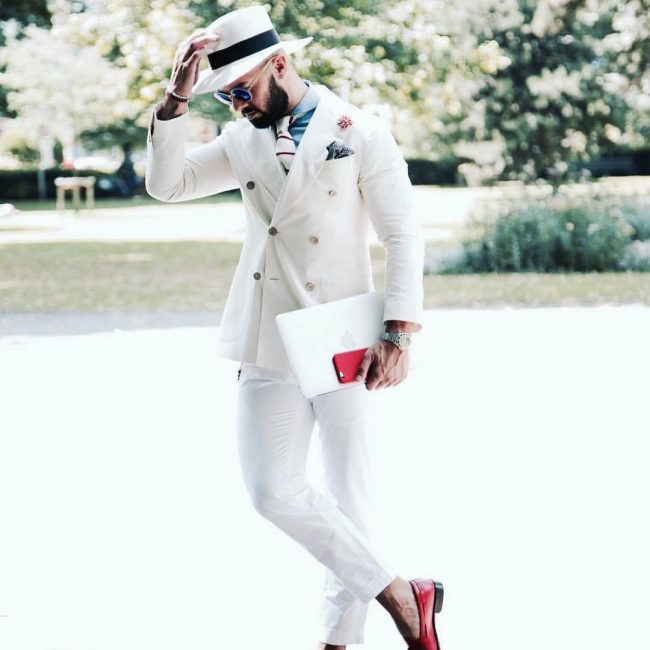 11 Classic White Suit Up