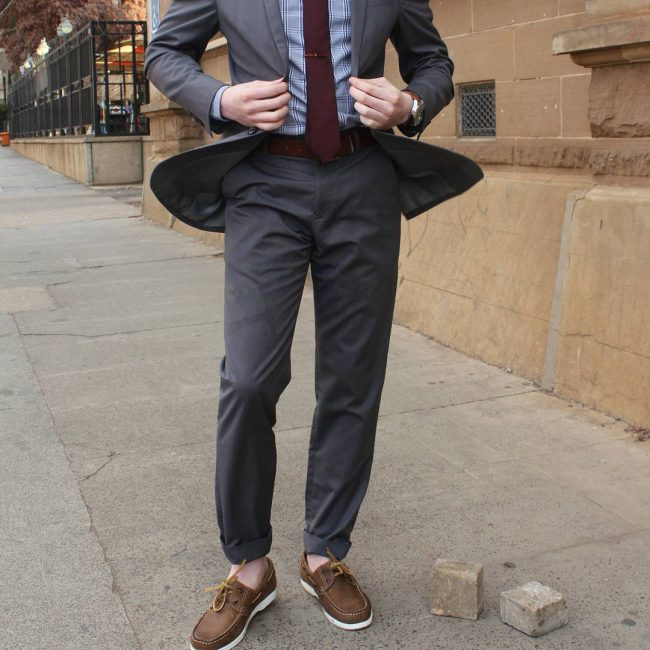 25 Ideas on Gray Pants and Brown Shoes - Super Combinations That ...
