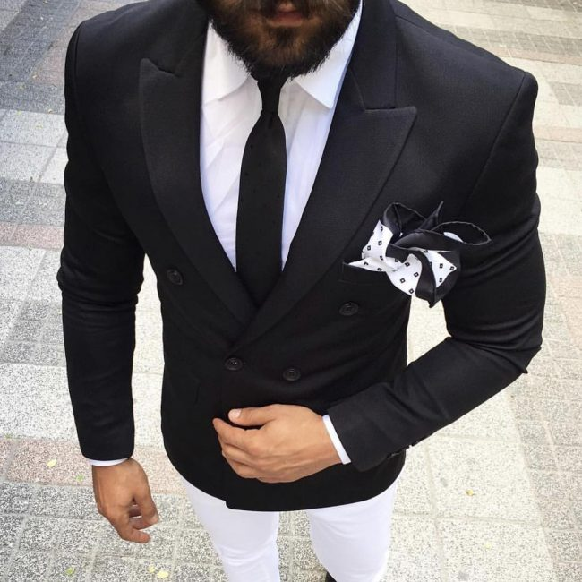 11 Impeccable Black and White Suit