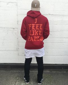 11 Pablo Feel on the Wine Red Hoodie