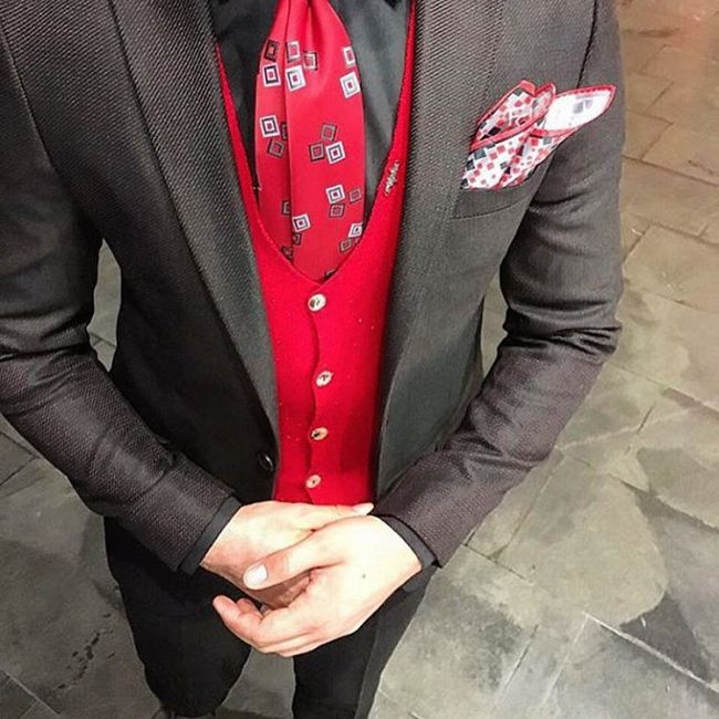 11 With Red Waistcoat and Tie
