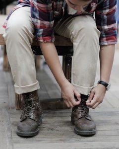 12 A Shirt & Light Grey Trousers