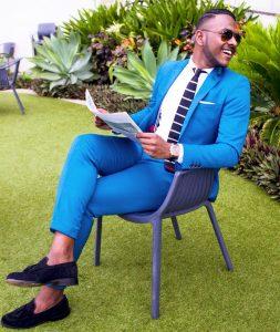 12 Cobalt Blue Slim-Fit Single Button Suit