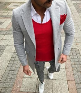 12 Fitted Vest & Grey Long Coat