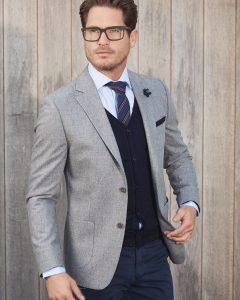 12 Grey Classy Blazer & Blue Pants