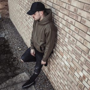 12 Olive Hoodie With Ripped Jeans