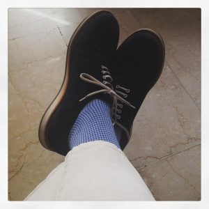 12 Sassy Blue Patterned Socks