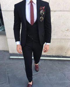 12 Slim Cut Three Piece Suits