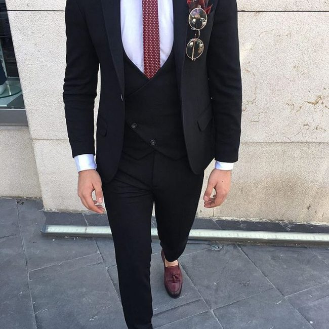 12 Slim Cut Three Piece Suits