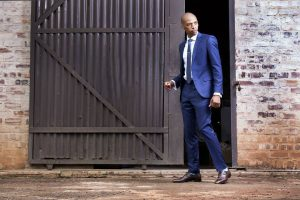 13 Berry Blue Slim Tie & Matching Berry Blue Suit