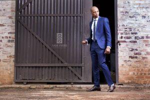 13 Berry Blue Slim Tie & Matching Berry Blue Suit