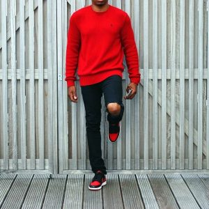 13 Black and Red Vintage Style