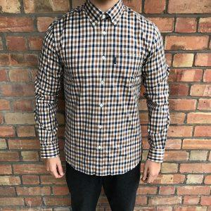 13 Brown-Black-White Shirt