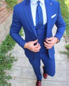 13 Cobalt Blue Designer Vest