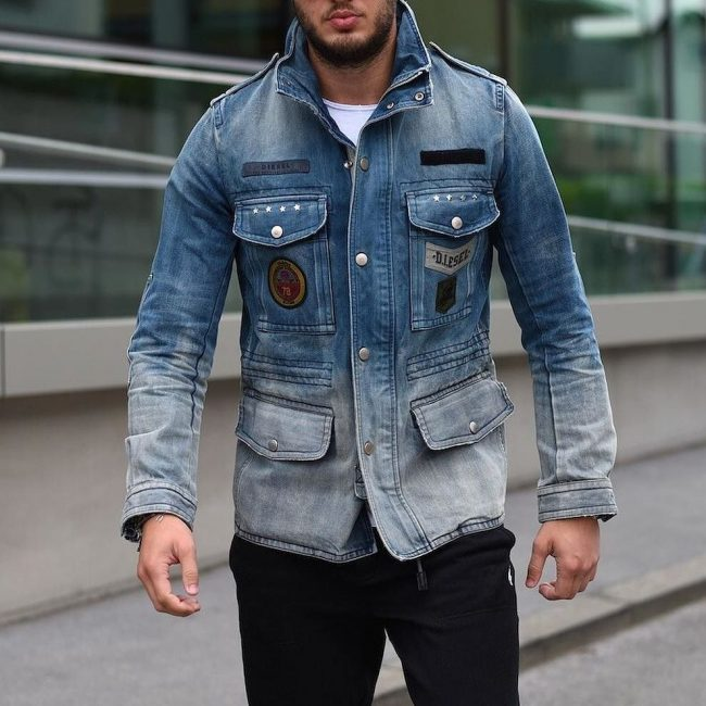 13 Diesel's Multi-Pocket Denim Jacket