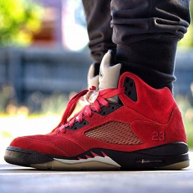 13 Red Suede 4s